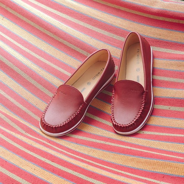 SUPERSOFT™ MOCA COMFY CLOUD LOAFERS - RED