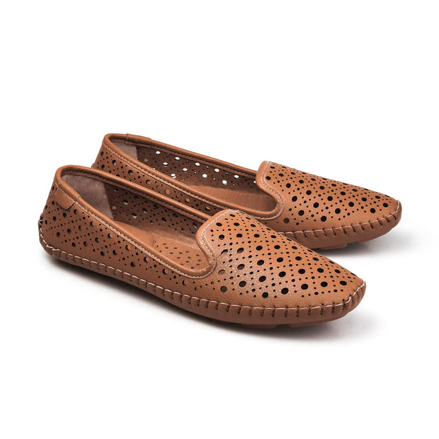 PAMOJO BARBARA SUMMER SLIPON - BROWN