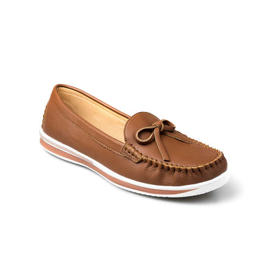 SUPERSOFT™ MOCA BOWTIE LOAFERS - BROWN