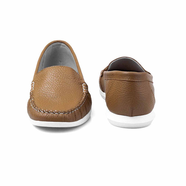 SUPERSOFT™ Charlotte Genuine Leather Loafers - BROWN