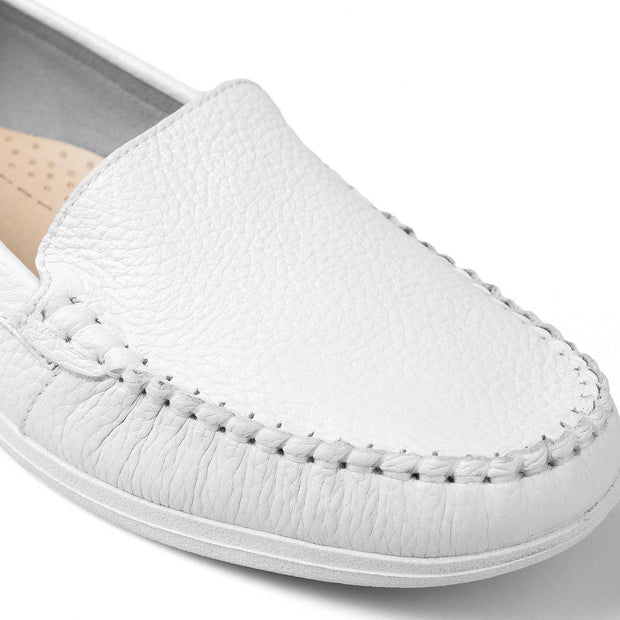 SUPERSOFT™ Charlotte Genuine Leather Loafers - WHITE