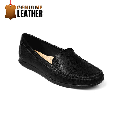SUPERSOFT™ Charlotte Genuine Leather Loafers - BLACK