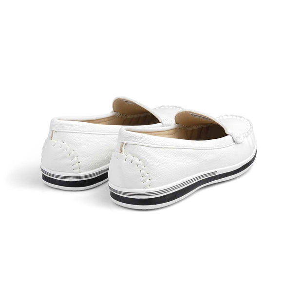 SUPERSOFT™ MOCA COMFY CLOUD LOAFERS - WHITE