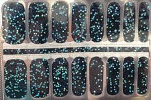 Load image into Gallery viewer, Blue Disco Nail Wraps #87