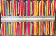 Load image into Gallery viewer, Candy Stripes Nail Wraps #28
