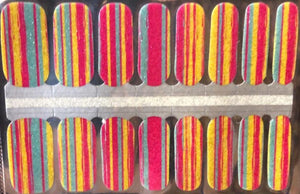 Candy Stripes Nail Wraps #28