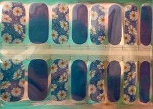 Daisy Got Blues Nail Wraps #151