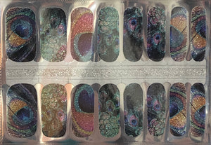Peacock Feathers Nail Wraps #89