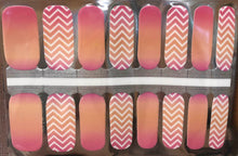 Load image into Gallery viewer, Tangerine Chevron Nail Wraps #145