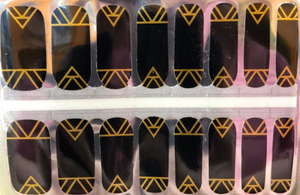Black Gold Aztec Nail Wraps #46