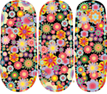 Load image into Gallery viewer, Floral Glitter Nail Wraps #58