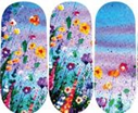 Load image into Gallery viewer, Flowers Over Blue Skies Nail Wraps #156