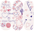 Load image into Gallery viewer, Little Love Note Nail Wraps #128