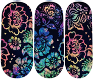 Load image into Gallery viewer, Black Light Flowers Nail Wraps #135