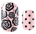 Load image into Gallery viewer, Pale Pink Roses and Dots Nail Wraps #35