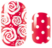 All Roses and Dots Nail Wrap #73