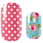 Load image into Gallery viewer, Roses and Stripes Nail Wraps #33