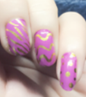 Gold Animal Prints in Pink Nail Wraps #75