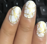 Load image into Gallery viewer, Gold Squiggles Nail Wraps #84