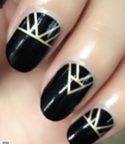 Load image into Gallery viewer, Black Gold Aztec Nail Wraps #46