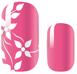 Load image into Gallery viewer, Pink White Flower Nail Wraps #48A