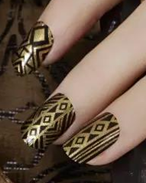 Load image into Gallery viewer, Queen of Gold Nail Wraps #95