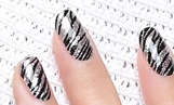 Load image into Gallery viewer, Zebra Glitter Nail Wraps #51