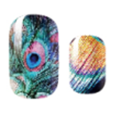 Load image into Gallery viewer, Peacock Feathers Nail Wraps #89