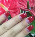 Load image into Gallery viewer, Red Tips Nail Wraps #120