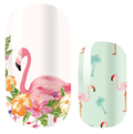 Load image into Gallery viewer, Pink Flamingo Nail Wraps #55