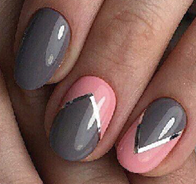 Load image into Gallery viewer, Gray Pink Actec Nail Wraps #61