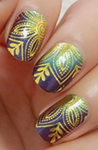 Load image into Gallery viewer, Morocco Midnight Nail Wraps #121