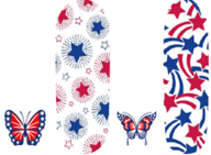 Load image into Gallery viewer, Butterfly 4th Of July #126