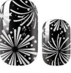 Load image into Gallery viewer, Silver Fireworks Nail Wraps #107