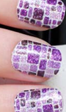 Load image into Gallery viewer, Purple Glitter Squares Nail Wraps #22