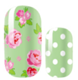 Load image into Gallery viewer, Roses and Polka Dots Nail Wraps #26