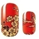 Asian Red Flowers Nail Wraps #8