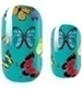 Load image into Gallery viewer, Teal Butterflies Nail Wraps #6