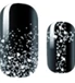 Load image into Gallery viewer, Black Silver Glitter Nail Wraps #15