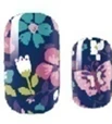Purple Floral Nail Wraps #4