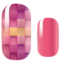 Load image into Gallery viewer, Pink Orange Basket Weave Nail Wraps #1