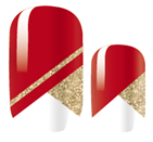 Load image into Gallery viewer, Red and Gold Nail Wraps #41