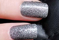 Load image into Gallery viewer, Gray Glitter Nail Wraps #102