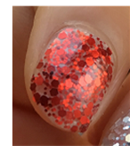 Load image into Gallery viewer, Clear Red Funfetti Nail Wraps #88