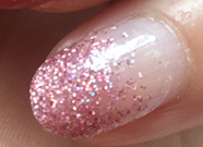 Clear to Pink Glitter Nail Wraps #83