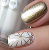 Load image into Gallery viewer, Gold Matrix Nail Wraps #111