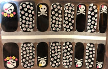 Load image into Gallery viewer, Lady Skulls Nail Wraps #25