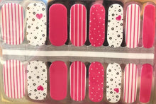 Load image into Gallery viewer, Pink Lonely Hearts Nail Wraps #38