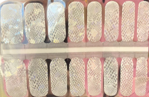 White Iridescent Nail Wraps #54