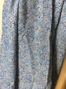 Original 1940's Rayon Dress Fabric - Gorgeous Paisley with Blues & Pinks 1.6 m